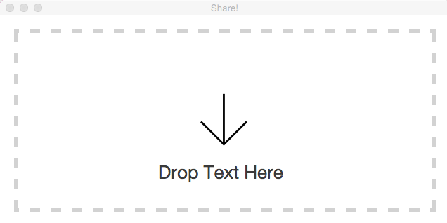 share drag and drop